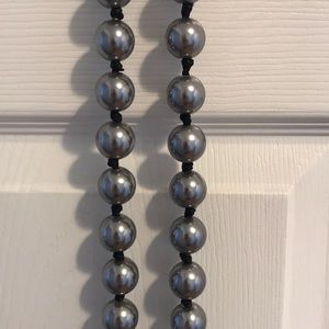 Large grey pearl necklace
